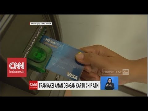 Transaksi Aman Dengan Kartu Chip Atm Youtube