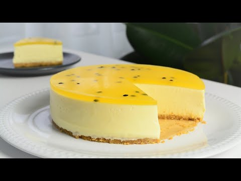 Passion Fruit Cheesecake No Bake - B nh Cheesecake Chanh D y Chanh Leo Kh ng C n L