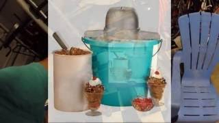 Making home made ice cream with the Nostalgia Ice Cream Maker