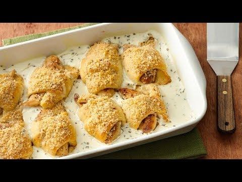 Chicken Kiev Crescent Bake Pillsbury Recipe Youtube