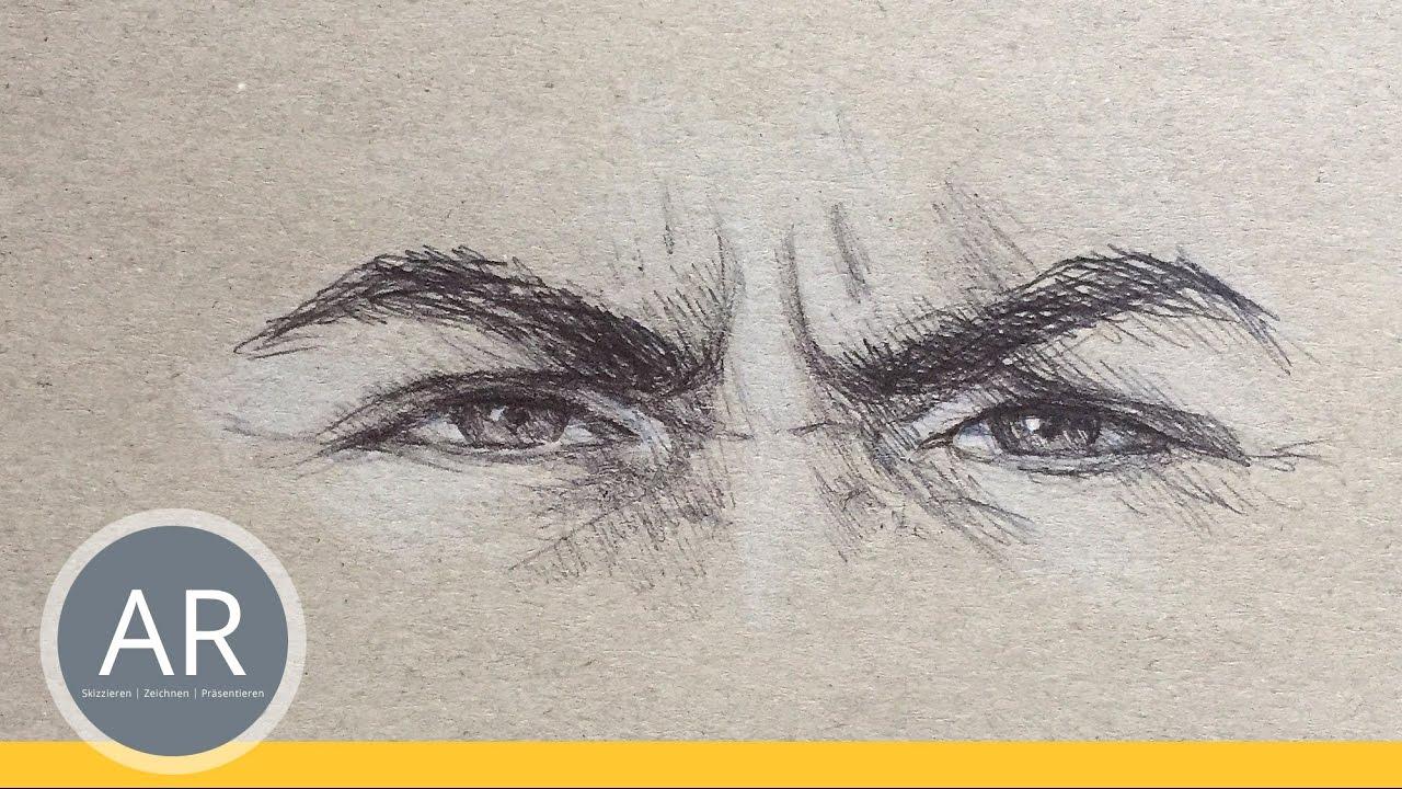 Augen Zeichnen Lernen Emotionen Vermitteln 2 Von 6 Mappenkurs