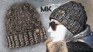 СТИЛЬНАЯ ШАПКА ИЗ ПРЯЖИ METALLIC / Подробный МК по вязанию женской шапки спицами