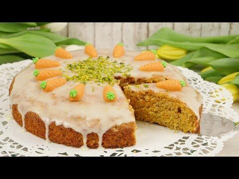 Carrot Cake mit Lemon Glaze / Blitzrezept für super saftigen Karottenkuchen