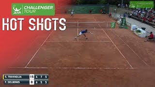 Delbonis Lunging Drop Volley Hot Shot At Todi Challenger 2017