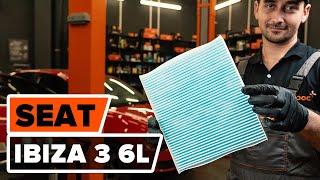 Comment remplacer un filtre d'habitacle sur SEAT IBIZA 3 6L [TUTORIEL AUTODOC]