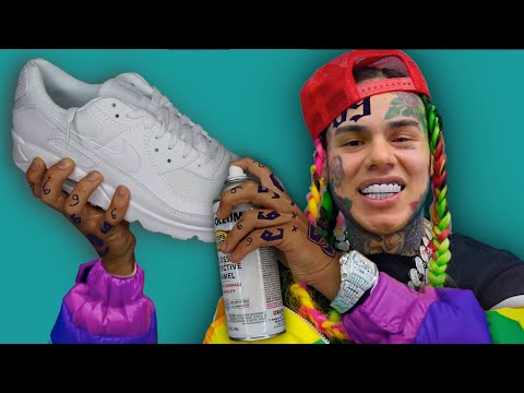 Surprising 6ix9ine with Custom Shoes!! ( ft. 6ix9ine ) -kinda