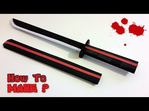 How to make Paper samurai sword (Katana)