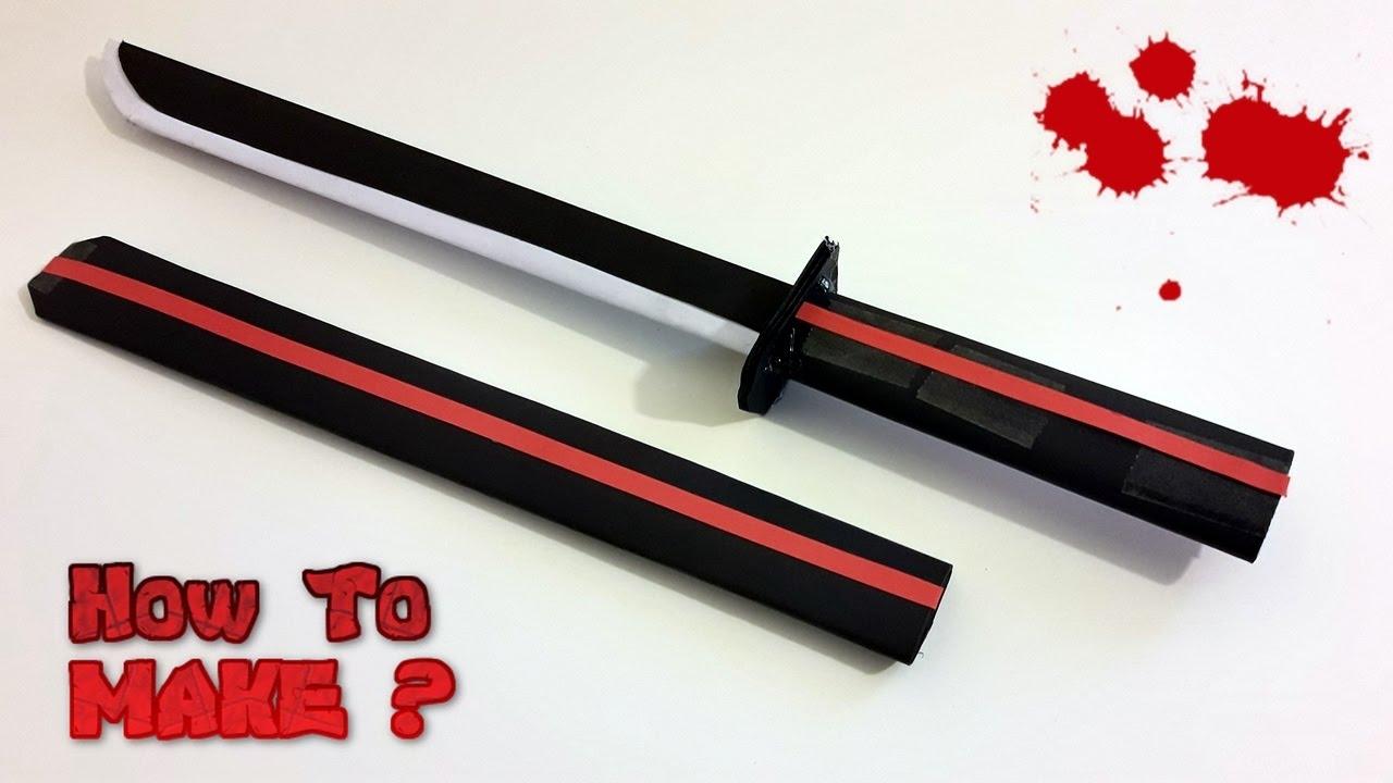 How to make Paper samurai sword (Katana)