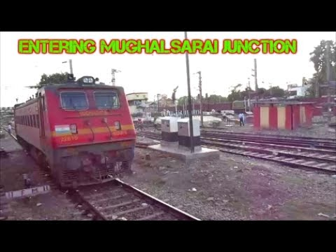 Entering Mughalsarai junction!!Full coverage of Asia'a largest  Marshalling Yard!!