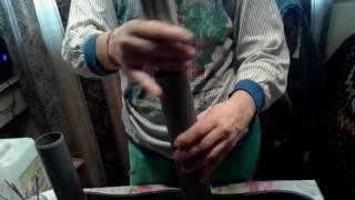 Как красить быстро газетные трубочки