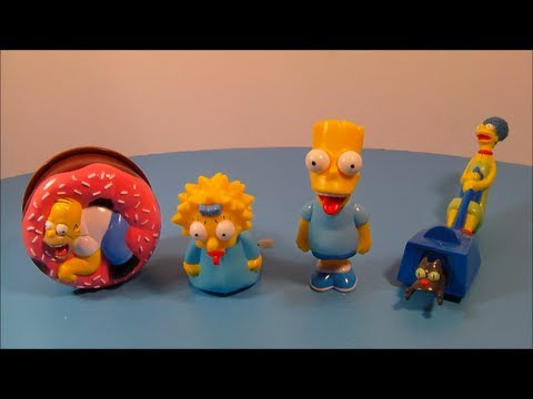 1998 The Simpsons Set Of 4 Burger King Kids Meal Toy S Video Review Youtube