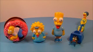 1998 THE SIMPSONS SET OF 4 BURGER KING KIDS MEAL TOY'S VIDEO REVIEW
