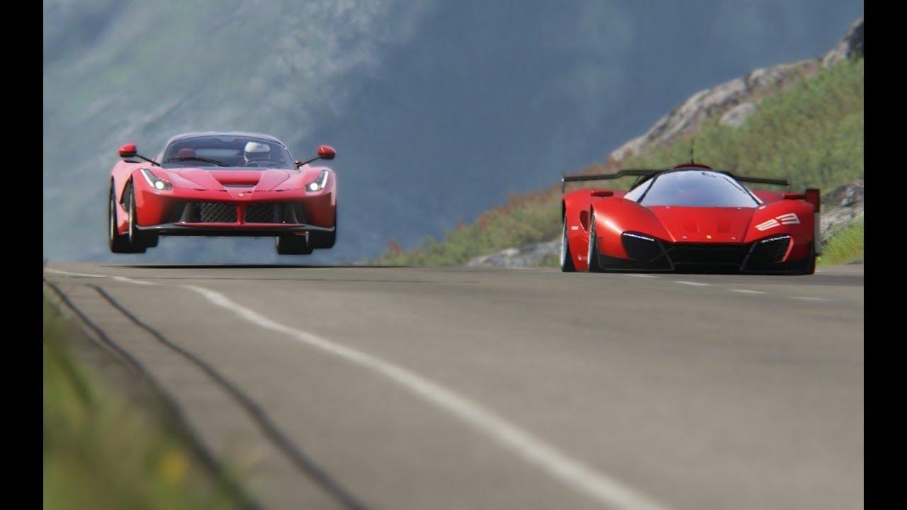 Ferrari Xezri Concept vs Ferrari LaFerrari at Higlhands