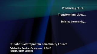 Celebration Service - September 11, 2016