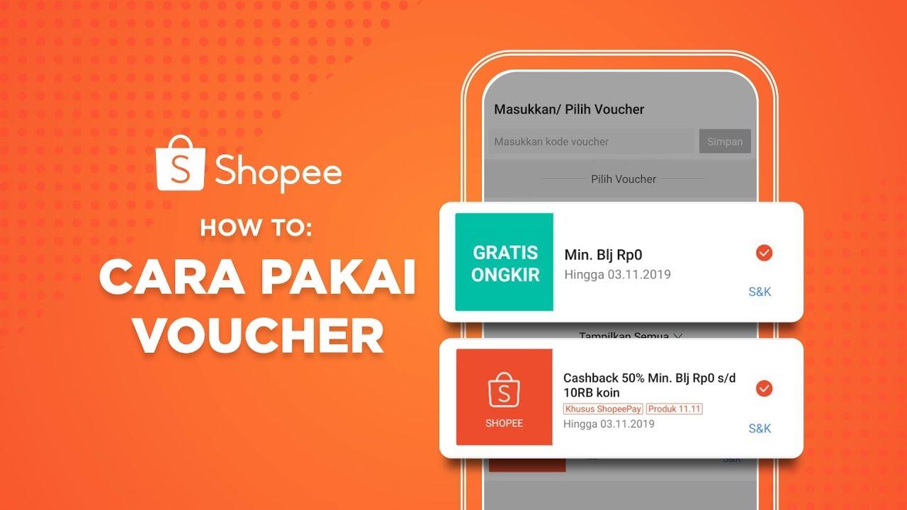 Cara Pakai Voucher Shopee Gratis Ongkir Dan Diskon 50 Shopee How To Youtube