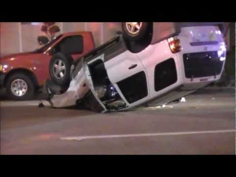 upside down car accident in redondo beach youtube. Black Bedroom Furniture Sets. Home Design Ideas