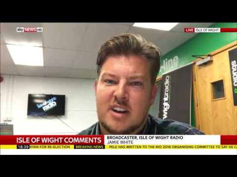 Isle of Wight Radio's Jamie White live on Sky News talking about the Ofsted Chair's comments