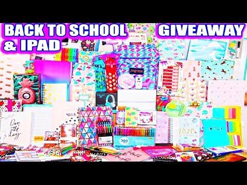 Biggest Back To School Giveaway EVER! Ipad, Bluetooth Speakers, School Supplies, Makeup & More!