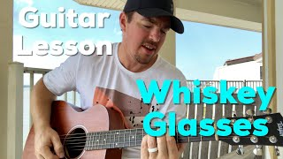 Download Whiskey Glasses | Morgan Wallen | Beginner Guitar Lesson Mp3 and Videos