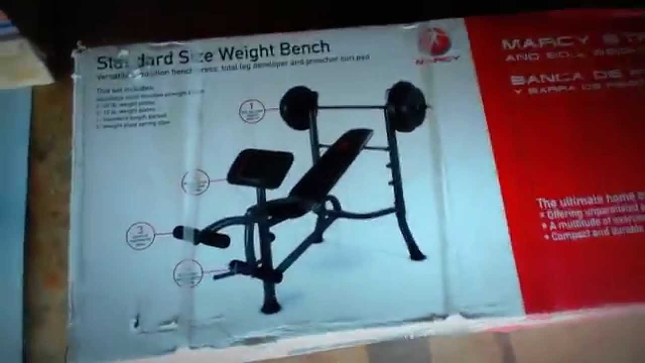 Unboxing Marcy Strength Bench And 80lb Weight Set