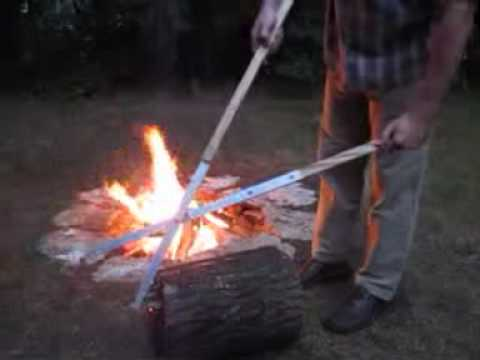 Campfire Tongs - Make The Ultimate Campfire!