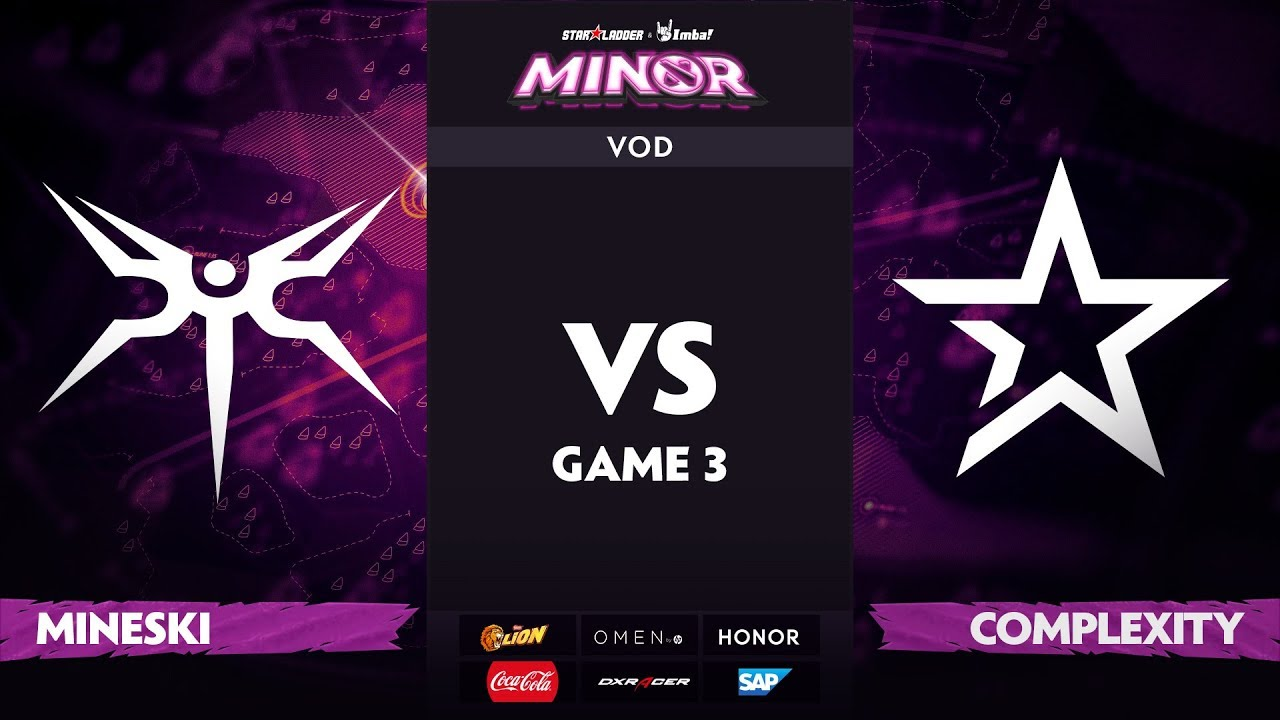 [RU] Mineski vs compLexity, Game 3, StarLadder ImbaTV Dota 2 Minor S2 Group Stage