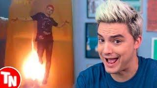 Fã da Katy Perry queima poster do Felipe Neto e ele responde