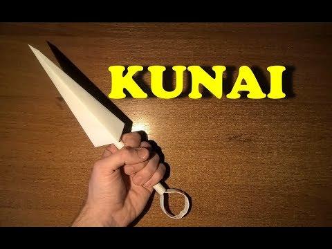 How to make a knife kunai | Origami knife