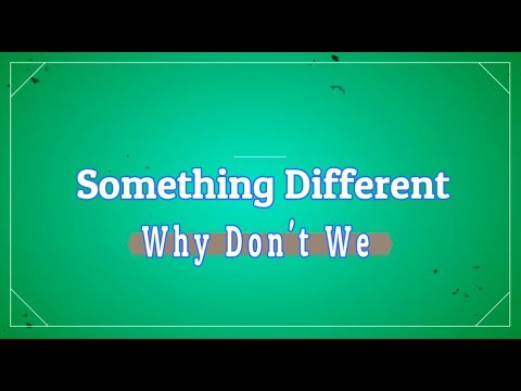 Something Different - Why Don't We KARAOKE NO VOCAL