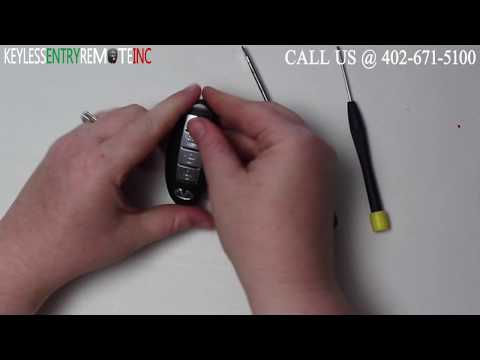 How To Replace A Infiniti G35 Key Fob Battery 2004 – 2007 FCC ID KBRTN001