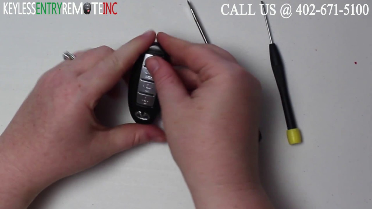 How To A Replace Infiniti G35 Key Fob Battery 2004 - 2007 FCC ID KBRTN001