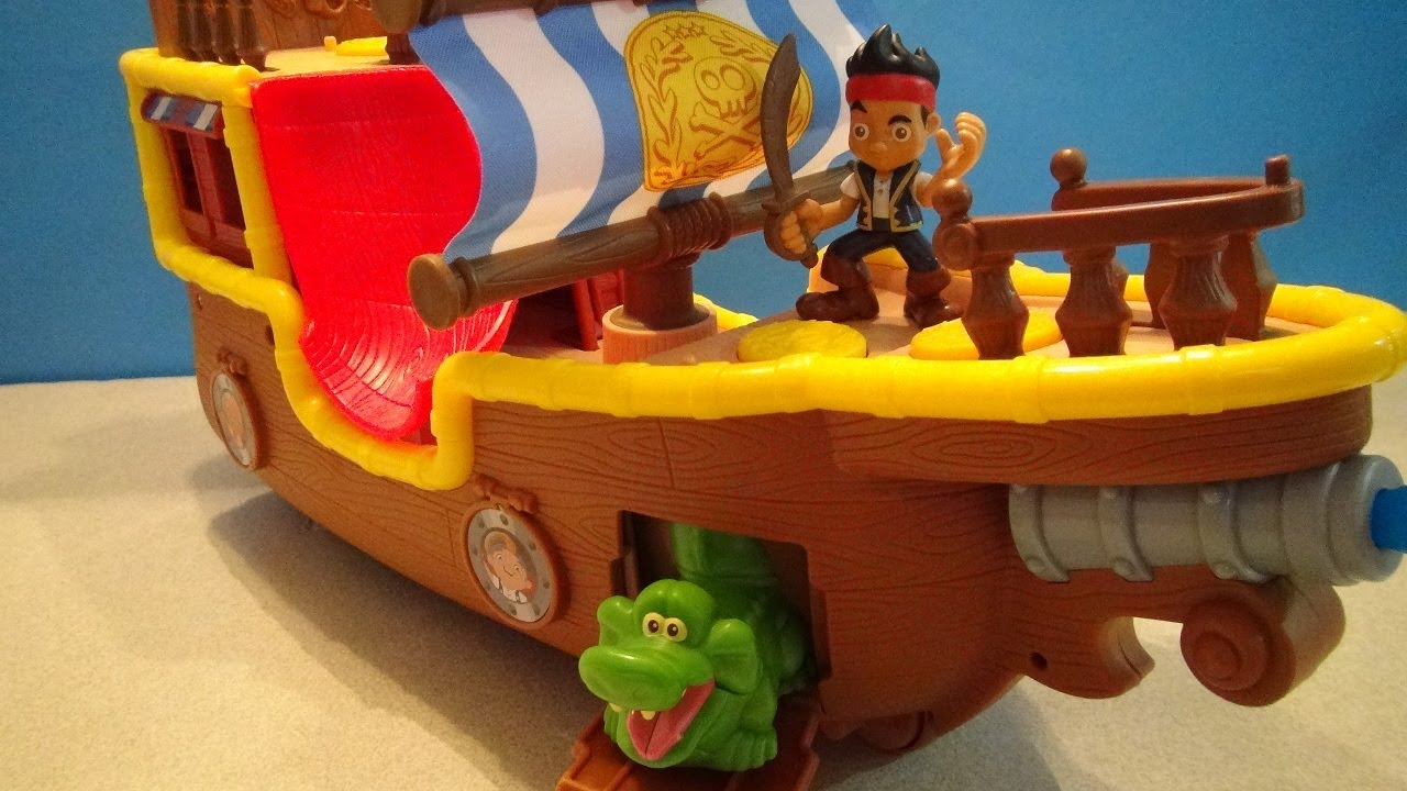 JAKE AND THE NEVERLAND PIRATES BUCKY MUSICAL PIRATE SHIP PLAYSET VIDEO TOY REVIEW
