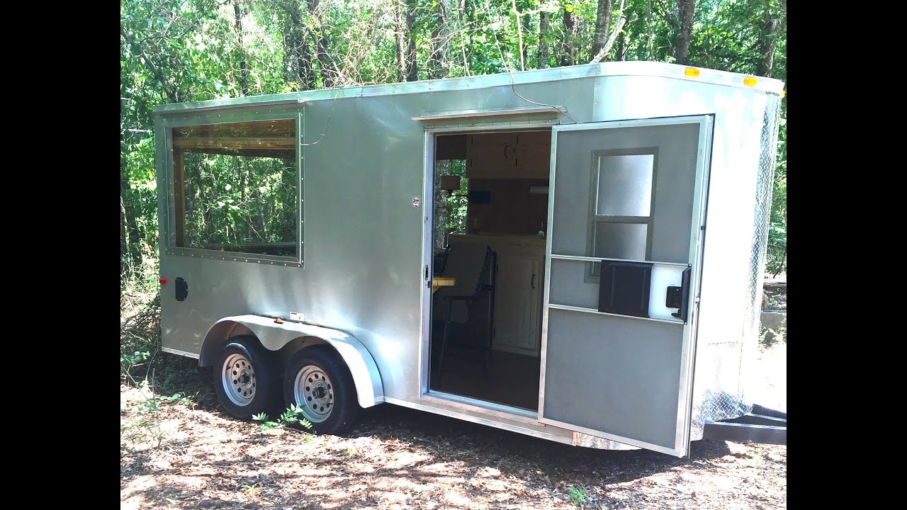 Cargo Trailer Converted Into Tiny House - YouTube