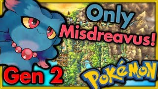 Can I Beat Pokemon Gold with ONLY MISDREAVUS? 🔴 Pokemon Challenges ► NO ITEMS IN BATTLE