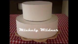 Ideias para festas e aniversários – Base para bolo redondo de papelão