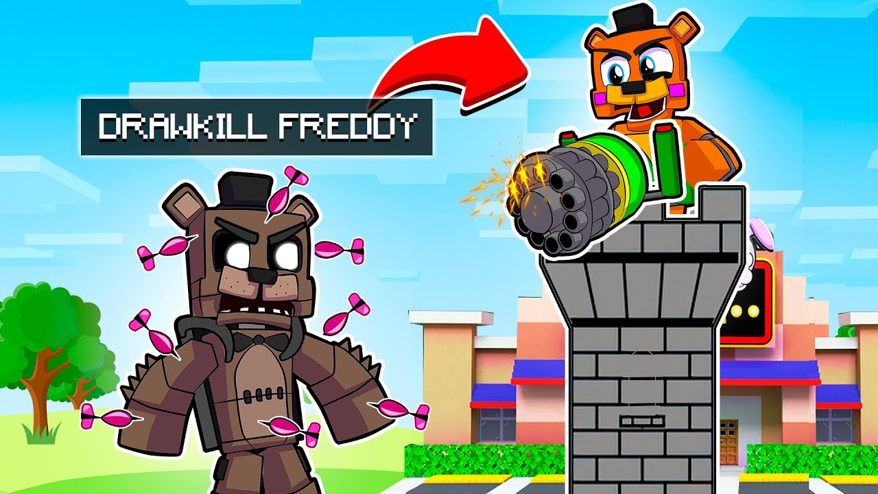 Download Freddy Defends Pizzeria | Minecraft Five Nights at Freddy's FNAF Roleplay