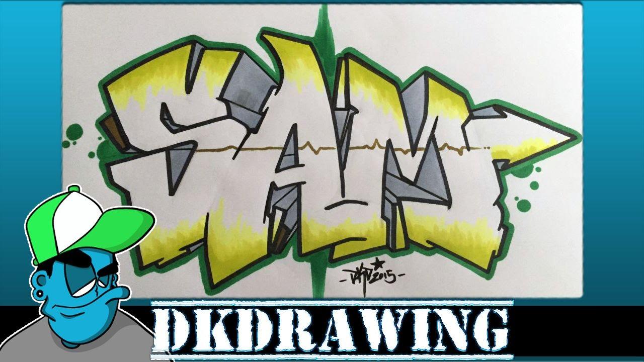 Draw Graffiti Name