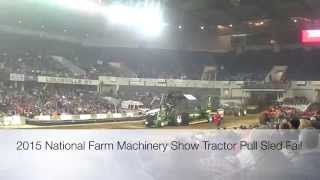 2015 National Farm Machinery Show Tractor Pull Sled Fail