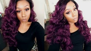 Bomb Purple Waves | Sensationnel Lace Part Wig DEE | BlackHairSpray.com