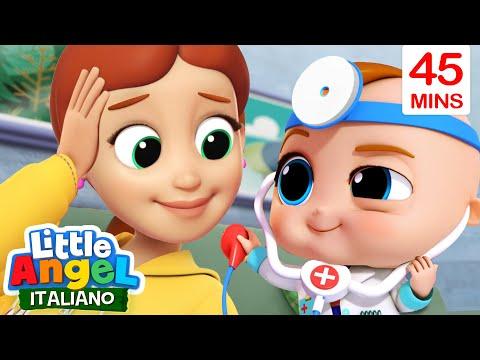 Gianni Piccino Gioca Al Dottore 🙉❤️ Cartoni Animati Con Gianni Piccino - Little Angel Italiano