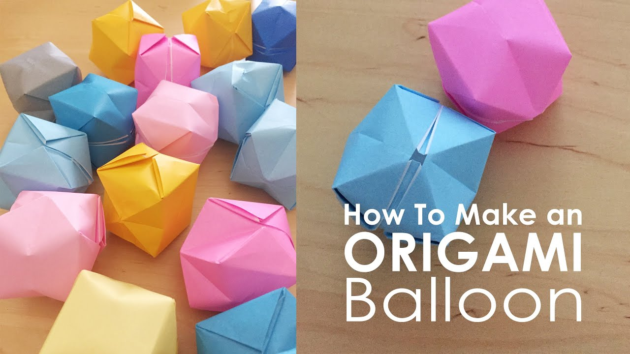 How to Make an Origami Balloon : Simple & Fun Origami - YouTube | 720x1280