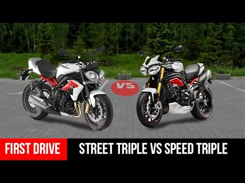 compare triumph street triple vs speed triple motorcycle first