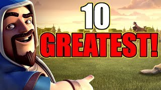 10 GREATEST MOMENTS IN CLASH OF CLANS HISTORY!