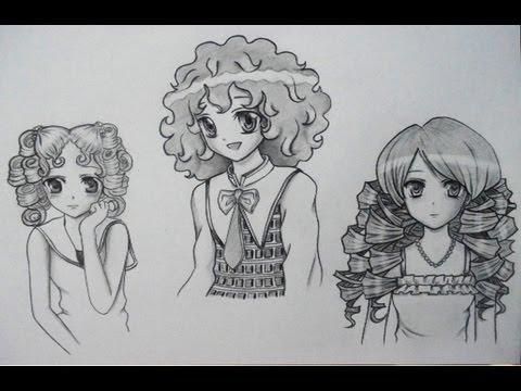 Cómo Dibujar Cabello Manga Rizado Dibujar Pelo Manga Ondulado