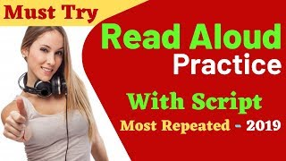 Read Aloud Practice With Answer SCRIPT For PTE Exam 2019