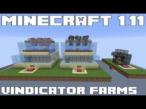 Minecraft 1.11 - Automatic Vindicator Animal Farms - Tutorial