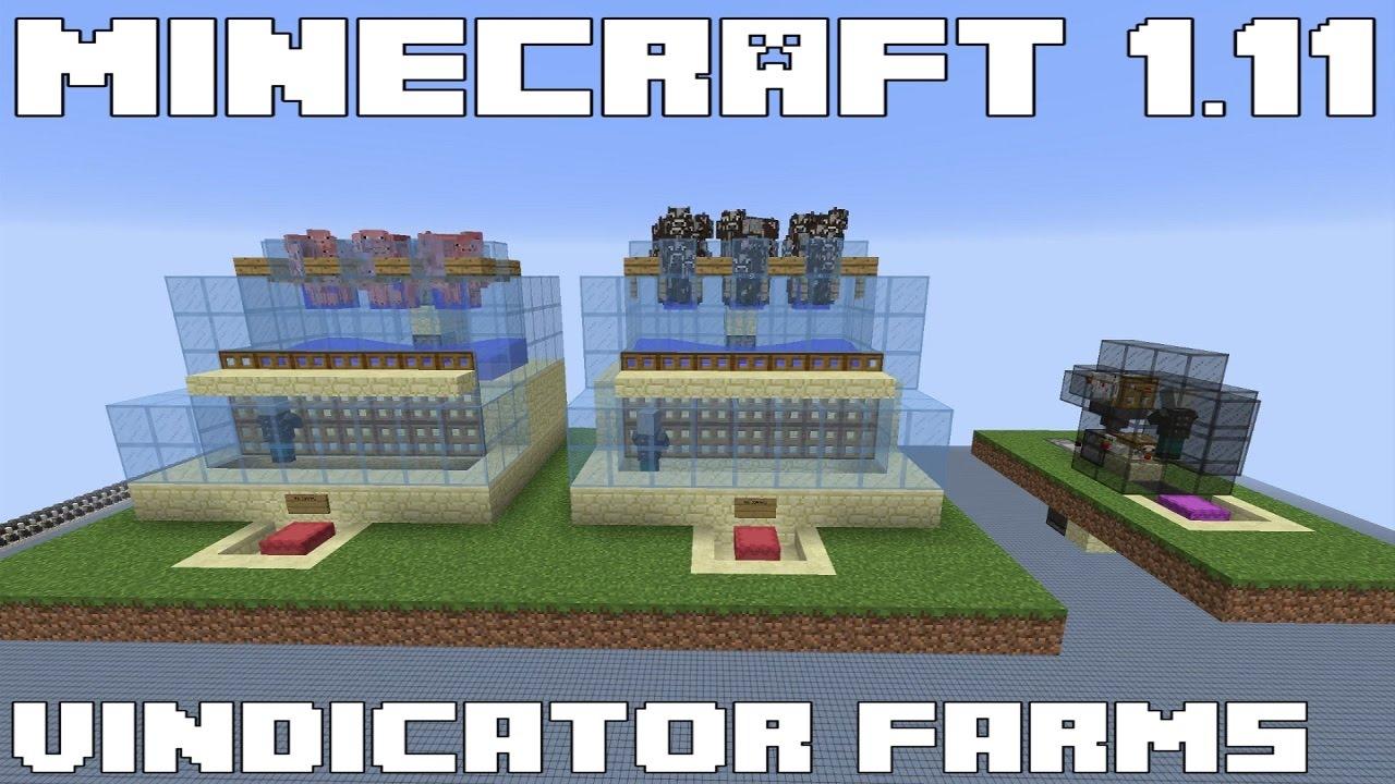 Minecraft 12.1212 - Automatic Vindicator Animal Farms - Tutorial