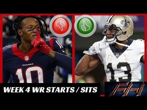 2018 Fantasy Football Lineup Advice  - Week 4 WR\'s Start/Sit Episode