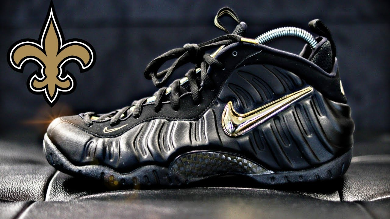 b9bf0ea6064 🔥🔥🔥NIKE AIR FOAMPOSITE PRO BLACK AND METALLIC GOLD UNBOXING - YouTube