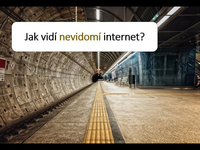 Jak vidí nevidomí internet? | Videopřednáška Vojtecha Regece